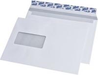 Briefumschläge C5, haftklebend, mit Fenster, weiß