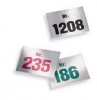 Aufklebe-Nummern